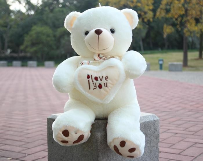 fillings toy, hugged i love you heart teddy bear about 50cm plush toy soft pillow birthday gift h448(China (Mainland))