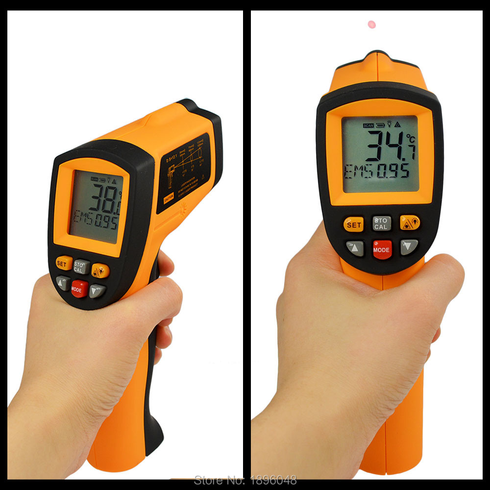 Infrared Thermometer Temperature Tester IR Laser Gun 100% Good Quality New GM700 -50-700 Degree 12 : 1 Non-Contact Digital LCD(China (Mainland))