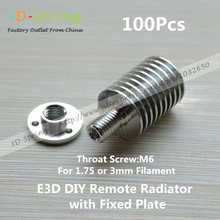 E3D All-Metal Extruder Radiator Heat sink with Fixed plate For 1.75mm 3mm Remote Feeding For 3 D Printer Accessories