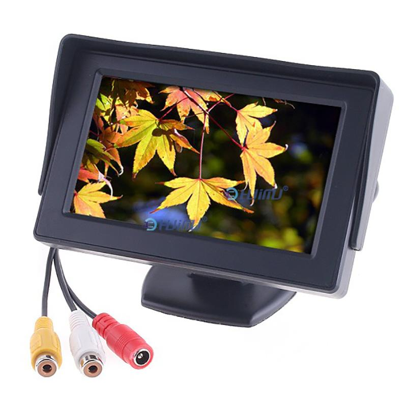 """2 Ways Video Input 4.3"""" Inch TFT LCD Display Definition Digital Panel Color Car Rear View Monitor For Rearview front side Camera(China (Mainland))"""