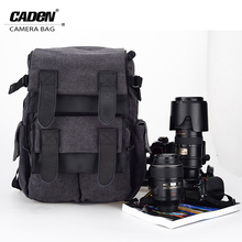Buy CADeN Camera Backpack Bag Waterproof Canvas Gray Photo Video Carry Case Bags Digital Camera Box DSLR Canon Nikon Sony M5 for $61.69 in AliExpress store