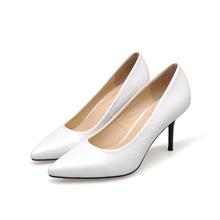 Женская Обувь 2016 Новая Мода Женщин Нагнетает Ботинки Большой Размер 34-41 Натуральная Кожа Высокие Каблуки Белый Новинка Обувь SMYCN-D0034(China (Mainland))