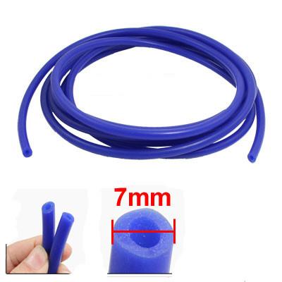 4 Meter Vehicle 3mm x 7mm Dia Blue Silicone Vacuum Hose Tubing Pipe(China (Mainland))