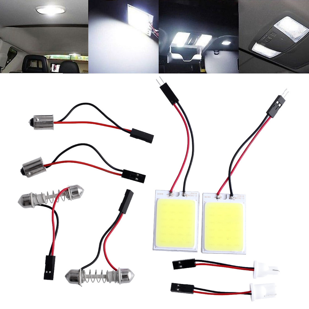 2pcs HID Saving Bright 24 COB LED Panel Light Practical For Car Auto Interior Door Trunk Dome Reading White Lamp<br><br>Aliexpress