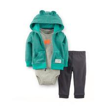 Fashion brand Carter's Baby clothing sets Boys 3-Piece Cardigan Set Baby Spring & Autumn Clothing Set jacket+ bodysuit+ pant
