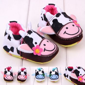 NEW DESIGN 1 pair Fashion cow doll Elastic Band Baby Shoes, Girl/ INFANT Shoes, Crib Bed Soft shoes, Super Qaulity Shoes