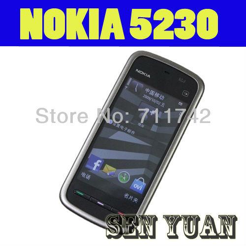 "5230 Original Nokia 5230 GPS 3G 3.2"" Bluetooth JAVA 2MP Unlocked Mobile Phone One Year Warranty Free Shipping(China (Mainland))"