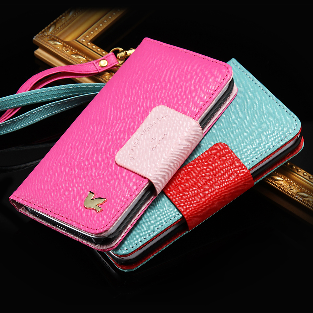 Note 5 Cut Original Bird Logo PU Leather Filp Leather Case For Samsung Galaxy Note 5 N9200 Cover Photo Slot Girly Stand Wallet(China (Mainland))
