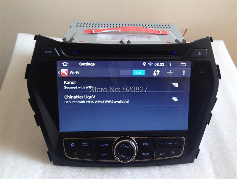 1024 600 Quad Core Android 4 4 Car DVD Player For Hyundai IX45 Sante Fe 2013