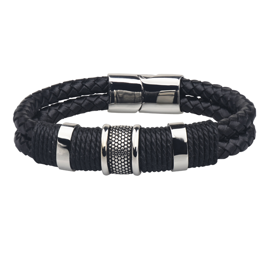 Genuine Real Leather Charm Bracelets Bangles Men New 2016 Hand Knitted Fashion Jewelry - Y-noble store
