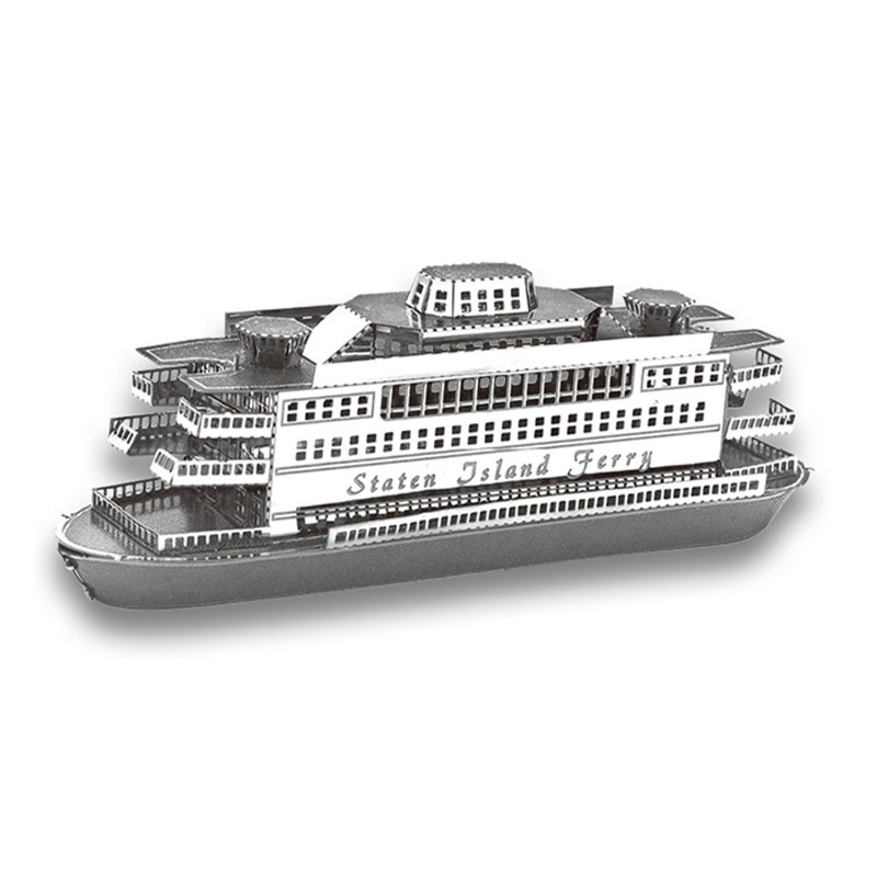 Staten Island Stainless Steel Ship Miniaturas 3D Scale Model Black Pearl Titanic Golden Hind Model Building Kit Metal Puzzle Toy(China (Mainland))