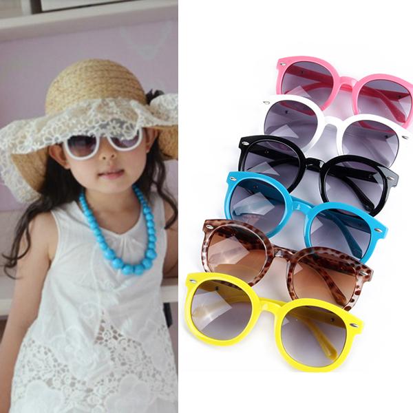 Солнечные очки Малышей Круглый Солнцезащитные Очки Стиль Стрелок Очки Очки UV400 Цветов