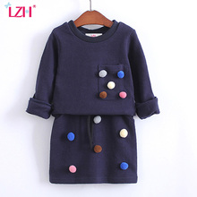 Buy LZH Toddler Girls Clothing Sets 2017 Autumn Spring Kids Girls Clothes Set T-shirt+Skirt 2pcs Girls Dress Suit Children Clothes for $11.10 in AliExpress store