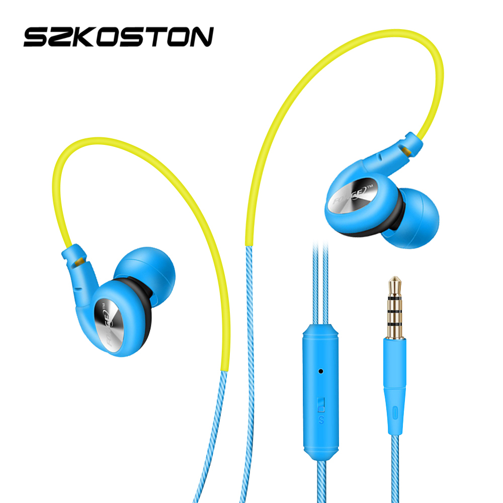 Candy Colored Sports Headphones Waterproof In Ear Earphone Stereo Bass Headphone With MIC For Mobile Phones MP3(China (Mainland))