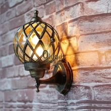 Outdoor wall lamp waterproof outdoor balcony lights decoration lamp garden lights fashion vintage wall lamp Free shipping(China (Mainland))