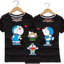 Boys Girls Couple Matching Cotton T Shirt Kids Anime Doraemon Tee Men T Shirts Women T-shirt Children Tops Lovers Family Clothes