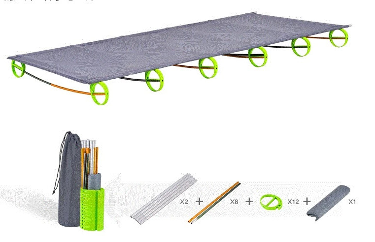 portable outdoor camping ultralight aluminum folding camp bed linen lunch break sleeping man bow frame - Asian fishing store