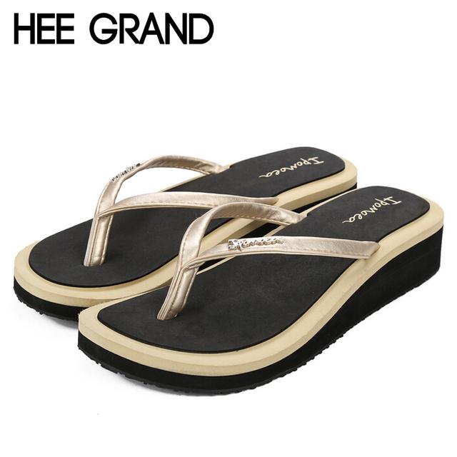 Лето стиль женщины сандалии 2016 новая платформа квартиры клинья обувь женщина пляж ...