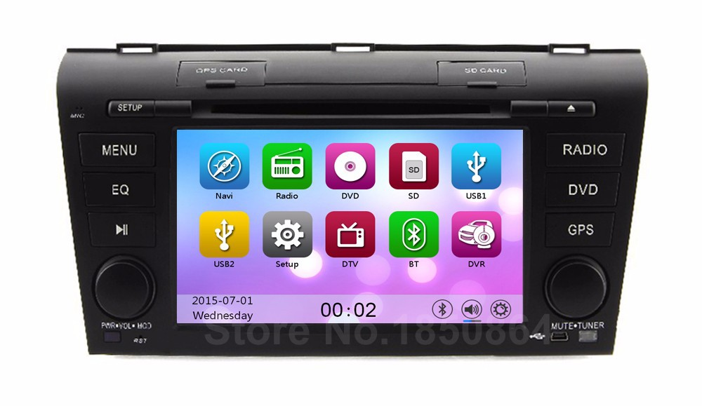 Touch screen for Mazda 3 2007 2008 2009 Car DVD Player Radio with GPS Bluetooth AUX free 8GB map card