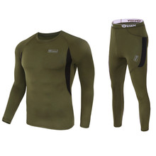 new thermal underwear men underwear sets compression sport fleece sweat quick drying thermo underwear men clothing(China (Mainland))