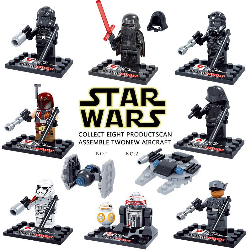 8pcs/lot Star Wars The Force Awakens Mini Figure movie Super Hero Kid Baby Toy Building Blocks Sets Model Toys Minifigures Brick<br><br>Aliexpress