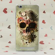 1247G Garden Skull Light Print Hard Transparent Case Redmi 2 2A 3s Pro Note 3 Meizu M2 Mini M3 - TTcase Store store