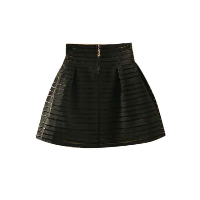 Новый бренд 2015 женщины высокой талией туту юбки молнии плиссированные мини-эластичного ...