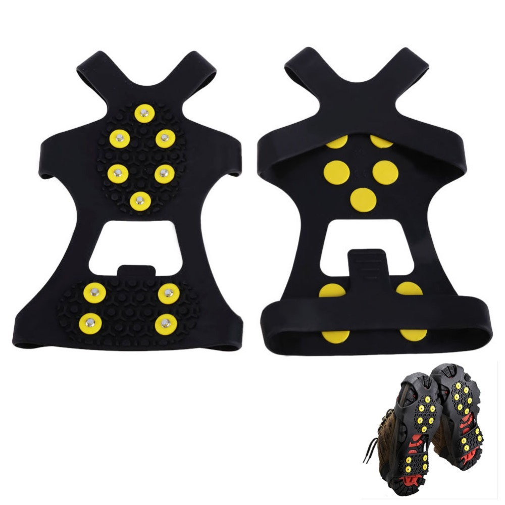 Гаджет  T2N2  New Over Shoe Studded Ice Grips Anti Slip Snow Shoes With Crampons Cleats Black None Инструменты