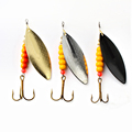 1PC Size0-Size5 <font><b>Fishing</b></font> Lure pesca Mepps Spinner bait Spoon Lures With Mustad Treble Hooks Peche Jig Anzuelos isca Pesca