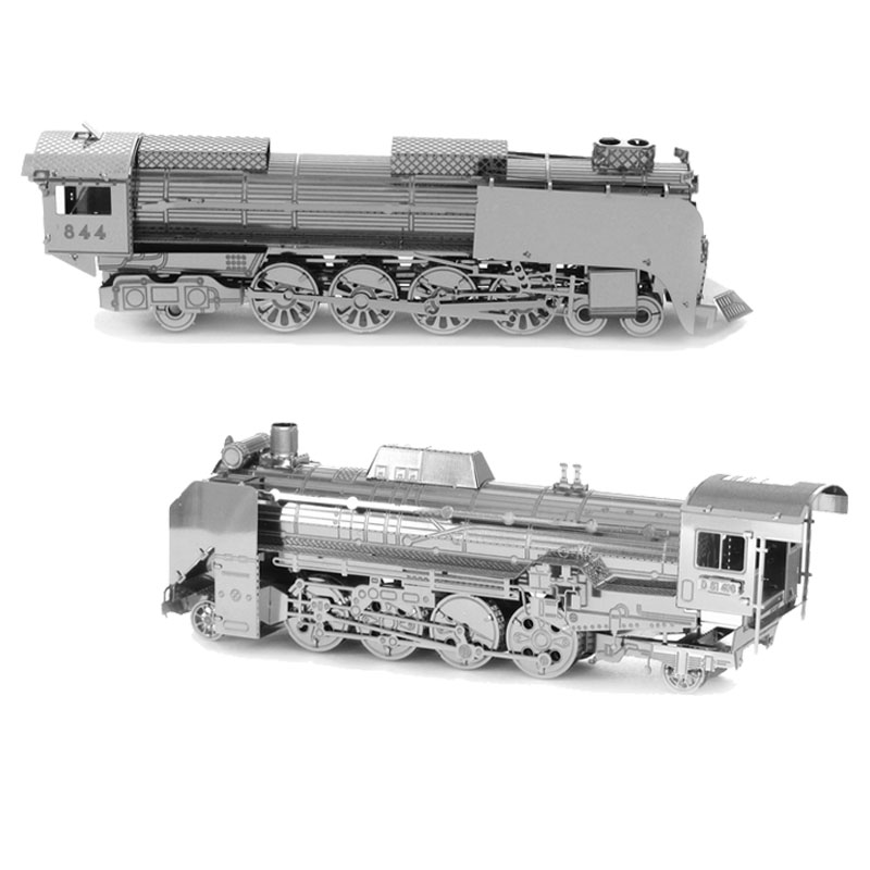 3D Metal Puzzles DIY Model Steam Train Jigsaws Toys Present Gift Model Building Kits(China (Mainland))