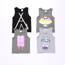 Retail 2016 summer baby girls boys unisex sleeveless t-shirt baby top child vest children clothing