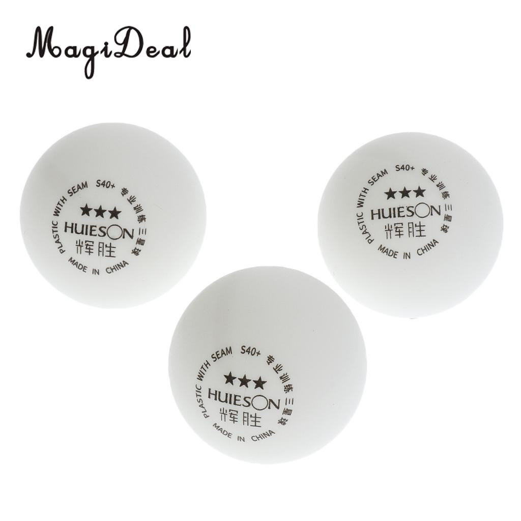 MagiDeal 3 Pieces 3-Star PREMIUM 40+mm Table Tennis Balls Plastic Ball Official Ball