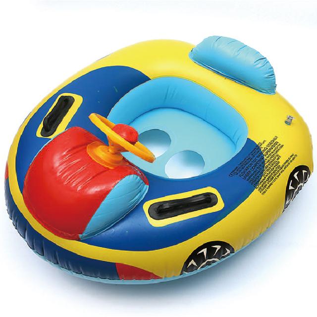 Мультфильм детей ребенок плавать сидений бассейн поплавок для 0 - 3 лет погремушка внутри