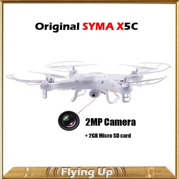 2MP Camera Drones SYMA X5C X5C-1 2.4GHz 4-Ch 6 Axis RC Quadcopter Rolling UFO with 2G Micro SD Card Remote Control Helicopter(China (Mainland))