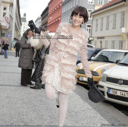Ostrich fur long vest lace hoodedОдежда и ак�е��уары<br><br><br>Aliexpress