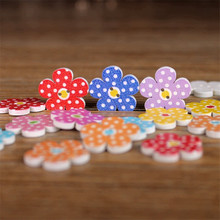 Buy Flower Shaped Buttons Crafts Wooden Buttons SCrapbooking 2 Holes Mixed Wood Sewing Buttons Home Decoration15MM 50Pcs/lot C2 for $1.29 in AliExpress store