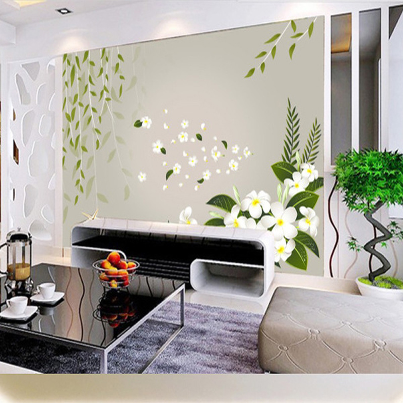 Willows Flower Wallpaper 3D Any Size Custom Kids Baby-room Mural Rolls Hotel Restaurant Living Room Bedroom Bar KTV Decor(China (Mainland))