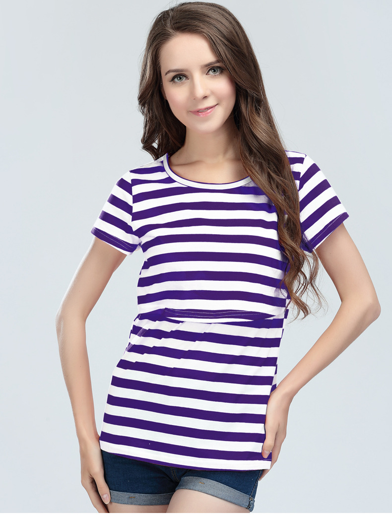 Top Quality Maternity Tees nursing Tee Breast font b Feeding b font shirts tops For Pregnant