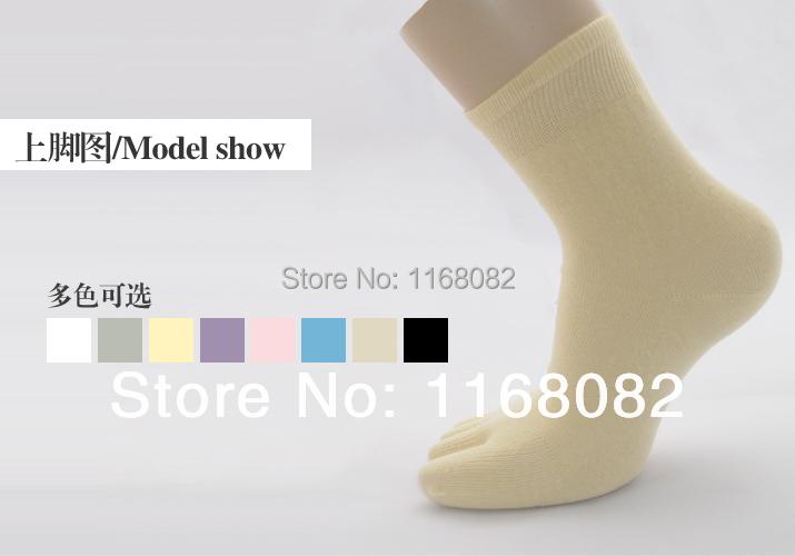 Free shipping Healthy Living Environmental protection cotton toe socks full of love Lady Fingers thin models in tube socks(China (Mainland))