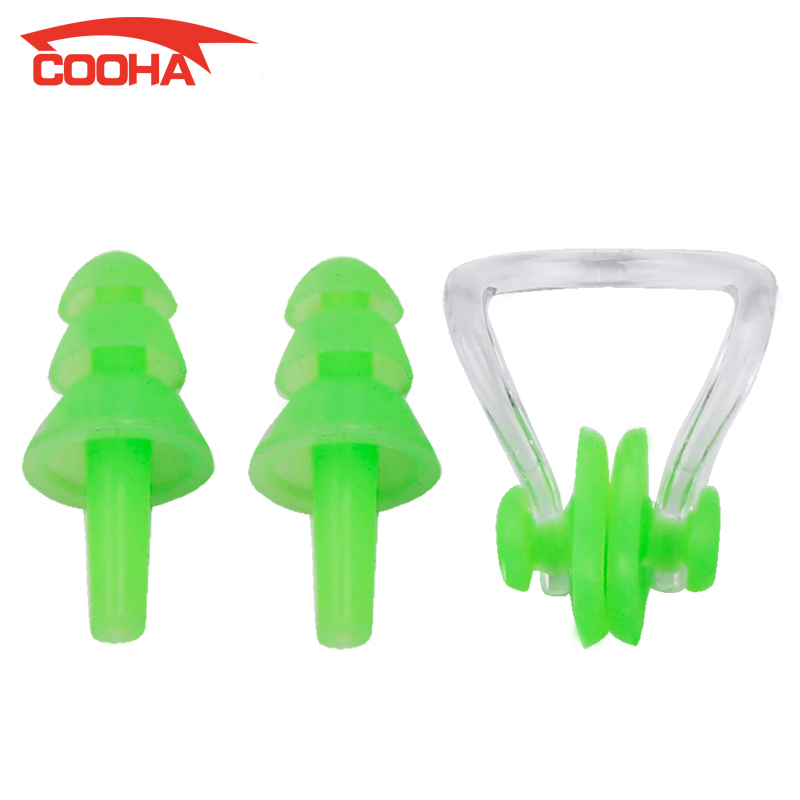 Piscina Light Wholeset Men Women Soft Silicone Waterproof Swimming Nose Clips And Ear Plug Set For Watersports Water Prevention(China (Mainland))