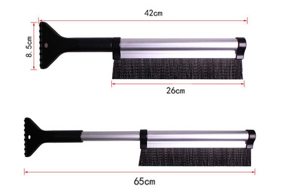 VOLTOP Car Snow Shovel Window Defroster Snow Removal Brush Shoveling Rain Ice Scraper Cleaning Tool Winter Auto Supplies