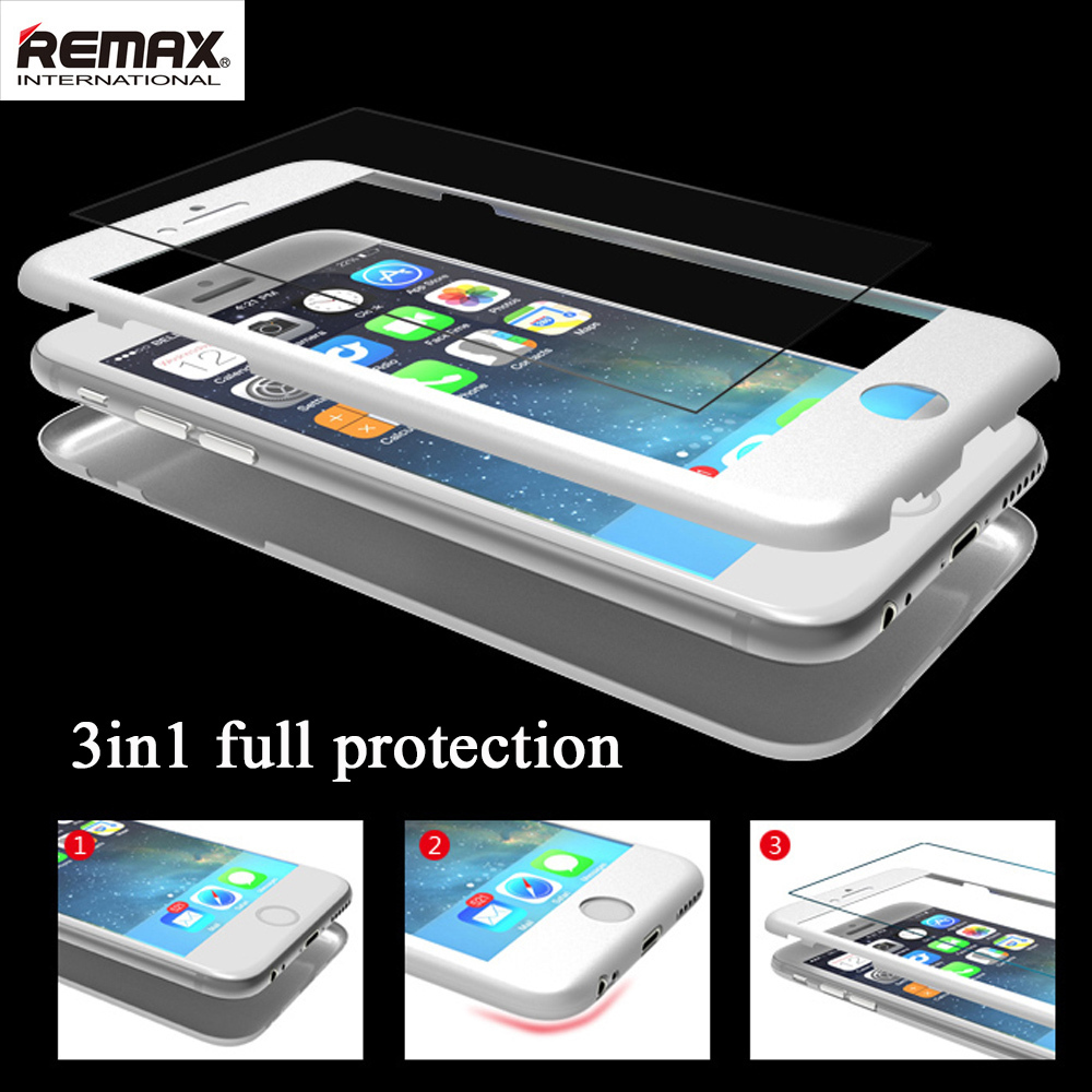Remax Luxury 0.3mm 3in1 case+Screen frame+Tempered Glass Film 360-degree Protective Case Cover iPhone 6Plus 5.5inch - ZYH e-Digital Store store