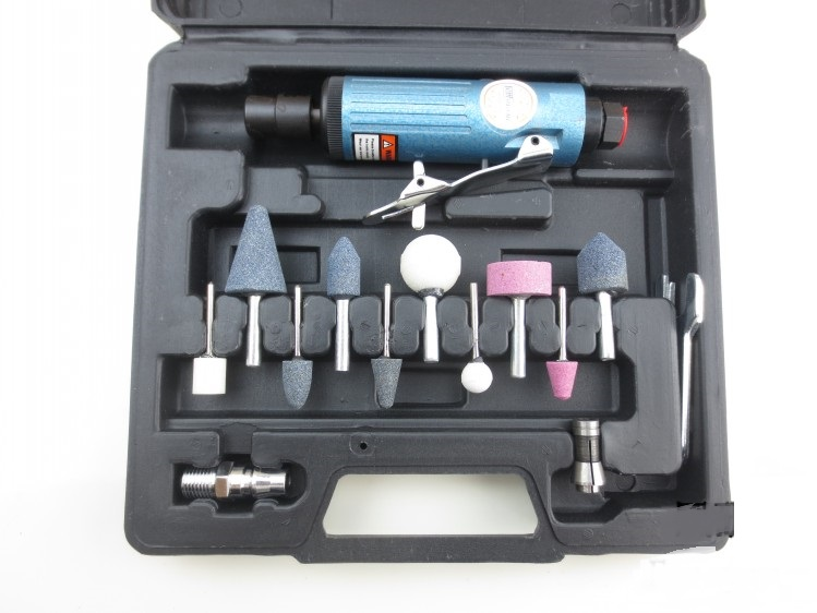 New 11pc/set 6mm Pneumatic polisher tool set Air auto Polished tire repair Tyre tool(China (Mainland))