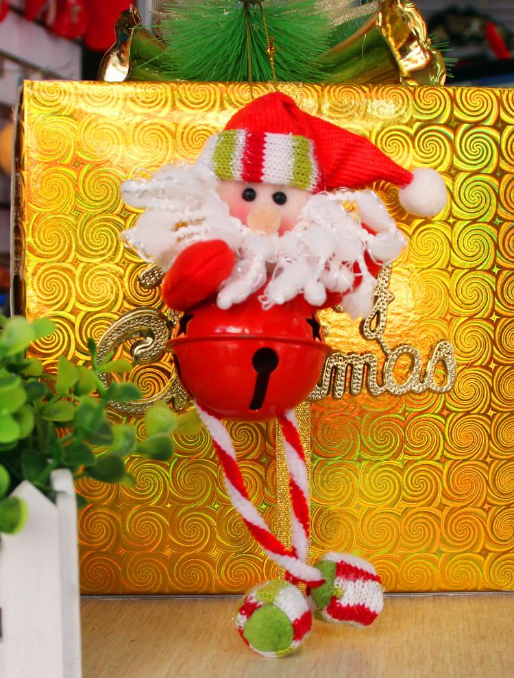 2015 Rushed M Styrofoam Ball 10pieces/lot Christmas Bells Santa Activities Decoration Supplies Ornament New Year Gifts Natal(China (Mainland))