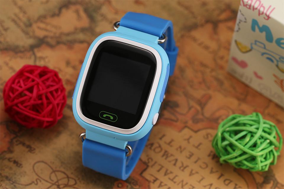 Детские часы smart baby watch q80 с gps розовые.