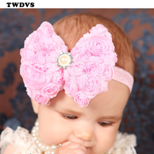 Baby Girls Bow knot Headband Girls Flower Headwear Hair Accessories TWDVS 2016 New Fashion Style Hot Sell W088(China (Mainland))