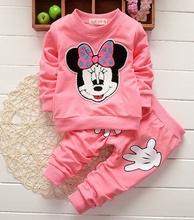 Free Shipping 2016 New Fashion Baby Boys Girls Clothing Set Cotton T shirt Pants 2pcs Infant