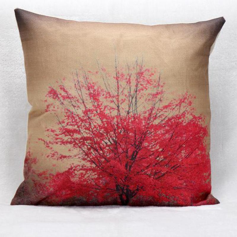 Throw Pillow Vendors : Manufacturers Wholesale Selling Red Flowers Cotton Linen Throw Pillow Living Room Sofa Chair ...