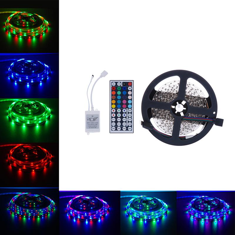 New Qualified 5M 3528 SMD RGB 300LEDs LED Light Strip 44 Key IR Remote Controller DC 12V dig6621(China (Mainland))