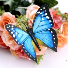 12pcs 3D Butterfly Sticker Art Design Decal Wall Home Decor Room Decorations wholesale sale(China (Mainland))